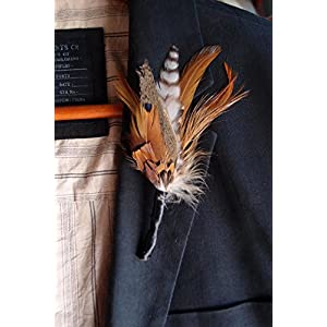 Richland Feather Boutonnieres Pheasant 32