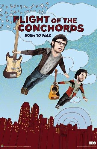 Flight of the Conchords Born To Folk Comedy TV Poster 24 x 36 inches (Flight Of The Conchords Poster)