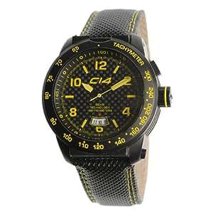 CARBON 14 E3.2 - Reloj de caballero de cuarzo, correa de piel color negro