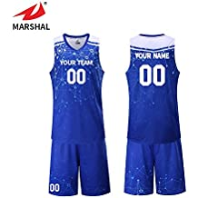Marshal Jersey 4 Colors Custom Sport Jerseys High School Basketball Unifrom Custom Your Team Name, Your Number