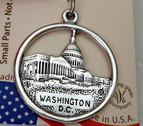 Sterling Silver 22mm says Washington DC with Capital