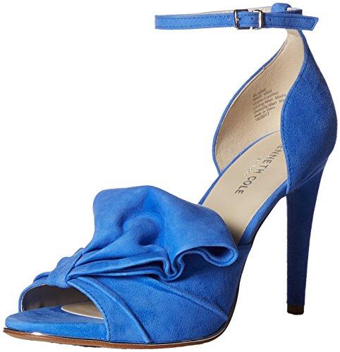 Kenneth Cole Suede Sandals (Kenneth Cole New York Women's Blaine Oversize Bow Stilleto Dress Heeled Sandal, Cerulean, 9 M US)