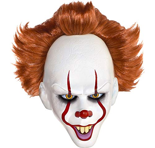 Authentic Halloween Masks (Suit Yourself It Pennywise The Dancing Clown Mask, One Size, Latex, Features a Creepy Clown Face and Red)
