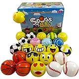 Set of 24 Mini Foam PU Sports Emoji Balls (Assorted)