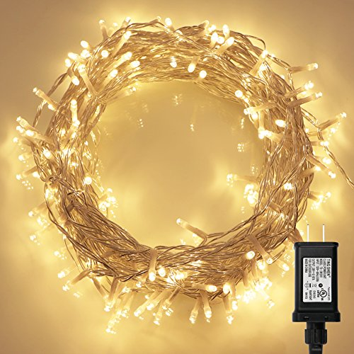 Clear Led Christmas Lights White Cord - 3