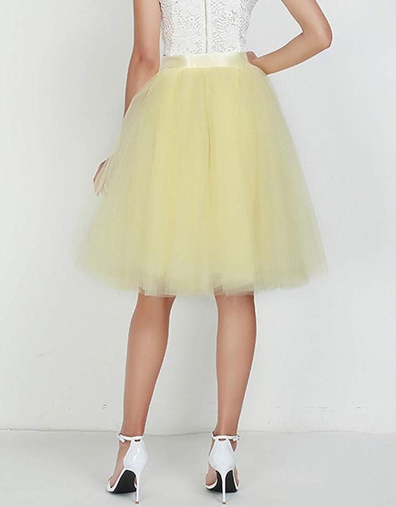 Falda de Tutú de Las Mujeres Tulle Faldas 7 Capas Underskirt con ...