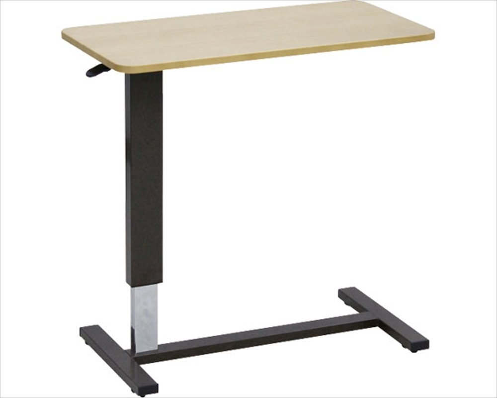 大商産業 ベッド用昇降テーブル LW-80 ライトブラウン (幅80×奥行40×高さ65~95cm) キャスター付 B00ZU4ZO20