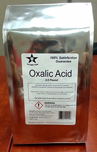 Oxalic Acid 2.5 Lb 99.6% Dihydrate Wood Bleach Rust Remover - Mail Time Priority International