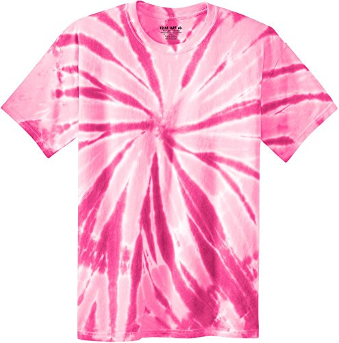 - Joe's USA Koloa Surf (tm) Youth Colorful Tie-Dye T-Shirt,L-Pink