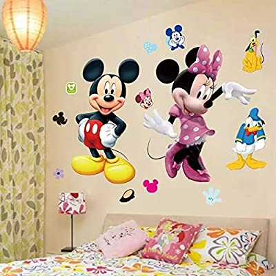 RoomMates Mickey Mouse Minnie Vinyl Mural Wall Sticker Decals Room Decor: Kitchen & Dining