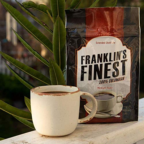 Franklin's Finest Survival Coffee - 60 Servings (Best Emergency Food Supply)