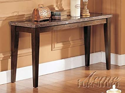 Amazoncom Acme 07144 Danville Marble Top Sofa Table Black