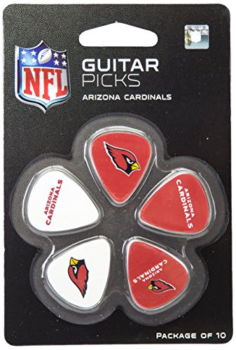 Cardinals Rocks Arizona - Woodrow Guitar by The Sports Vault NFL Arizona Cardinals Guitar Picks, 10 Pack