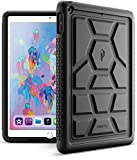 Poetic TurtleSkin New iPad 9.7 Inch 2017/2018 Cover Case With Heavy Duty Protection Silicone and Sound-Amplification feature for Apple iPad 9.7 2017/iPad 9.7 2018 Black