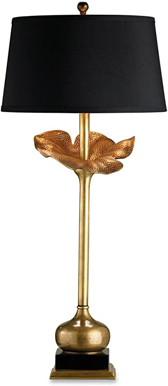 15 x 33 Bancroft Finish Dimond Lighting 93-10022 Red Cloud 1-Light Wood Tone Transitional Table Lamp with Oval Shade