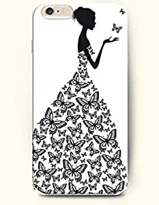 OFFIT iPhone 6 Plus Case 5.5 Inches Butterfly and Girl
