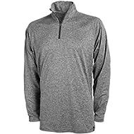 [Sponsored]Covalent Activewear Mens Light Weight Quarter-Zip Longsleeve Tee Shirt