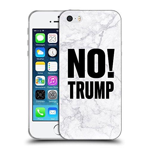 Super Galaxy Coque de Protection TPU Silicone Case pour // Q04100545 Aucun marbre gris Trump // Apple iPhone 5 5S 5G SE
