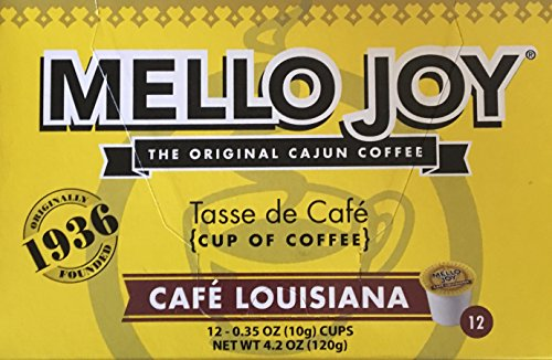 Mello Joy Cafe Louisiana Coffee K-cups, Box of 12 from Mello Joy