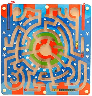 Black Temptation Juego de Mesa magnética de Rompecabezas de Juguete de Laberinto de Madera para niños: Amazon.es: Juguetes y juegos