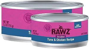 Rawz Shredded Meat Canned Cat Food (Tuna & Chicken)