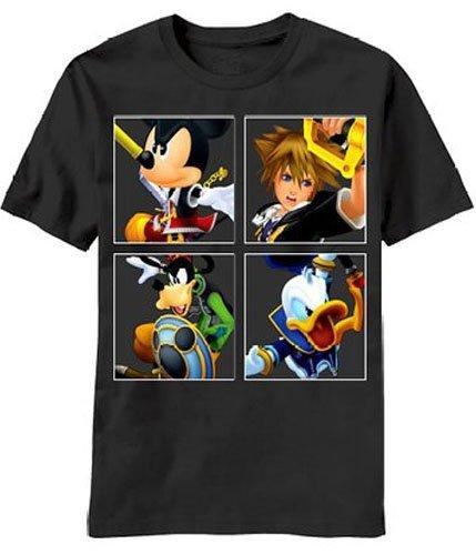 Disney Kingdom Hearts The Four Kings Men's Licensed T-Shirt (X-Small) (Kingdom Hearts Mad Engine)