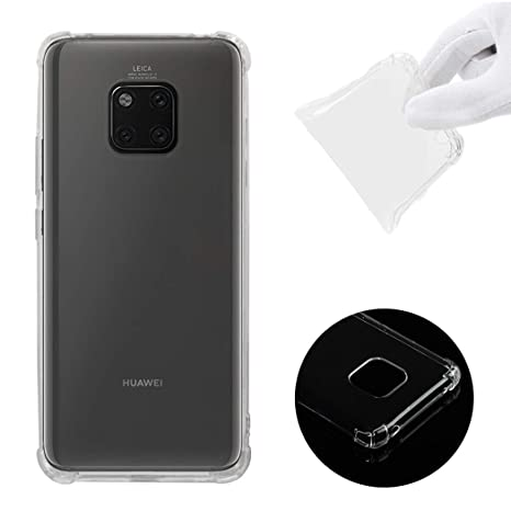 CoverTpu Funda Huawei Mate 20 Pro Transparente Silicona TPU ...