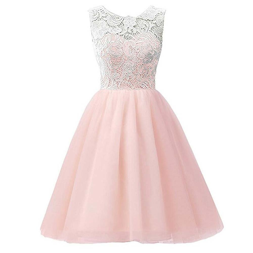 LPATTERN Girls Floral Short Lace and Tulle Party Dress Evening Gown for Girls&Women School Prom Gown Bridesmaid Dresses: Amazon.co.uk: Clothing