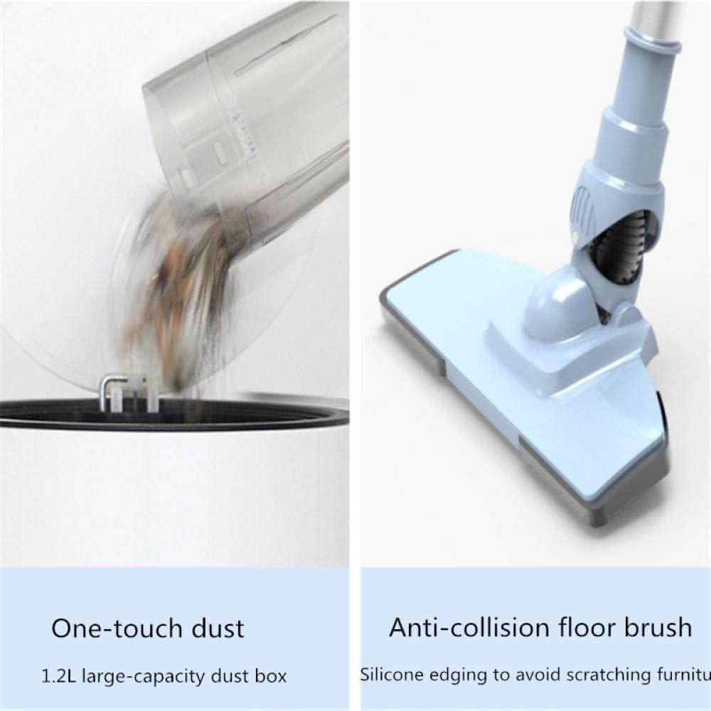 Aspirateur Balai Multifonction,Aspirateur sans fil, aspirateur rechargeable portatif domestique-Bleu,aspirateur balai sans fil Bleu
