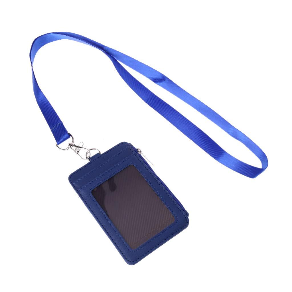 Bleu Exing Porte-Cartes didentification en Cuir Etui de lani/ère pour Carte de cr/édit Sac de Rangement Professionnel