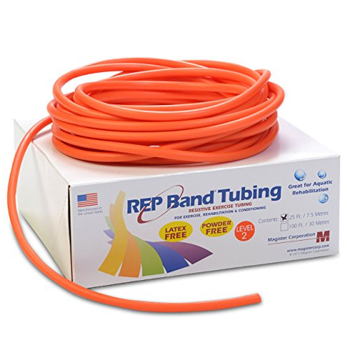 (Magister Resistive Exercise - Rep Latex-Free Tubing ORANGE (LEVEL 2) 25' (25 feet))