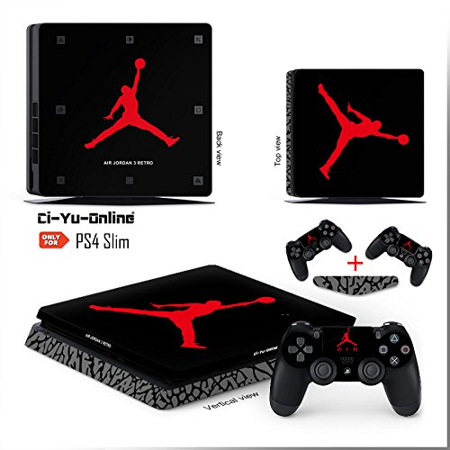 Amazon.com: Ci-Yu-Online VINYL SKIN [PS4 Slim] Air Jordan 3 Retro Shoe Box  Light Bar Whole Body VINYL SKIN STICKER DECAL COVER for PS4 Slim  Playstation 4 ...
