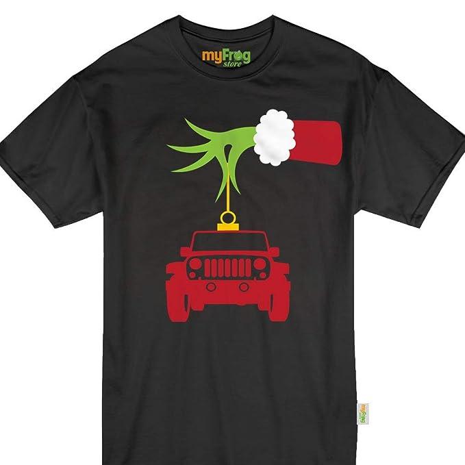 cc4389b62fb1 Amazon.com  Grinch Hand Jeep Christmas Off-Roading Pajamas Family ...