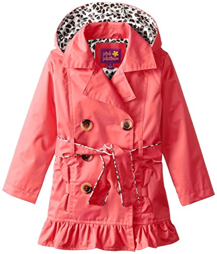 Platinum Little Girls Double Breasted Trench Jacket
