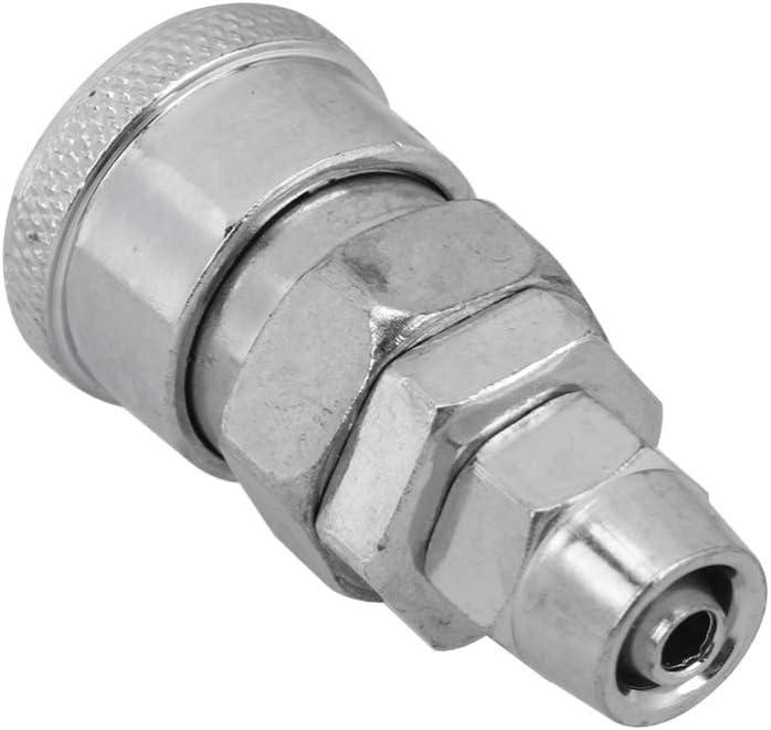 DOITOOL Conector R/ápido Neum/ático de 4 Piezas Conector de Acoplamiento R/ápido de Autobloqueo para Equipos de Compresores de Aire Industriales