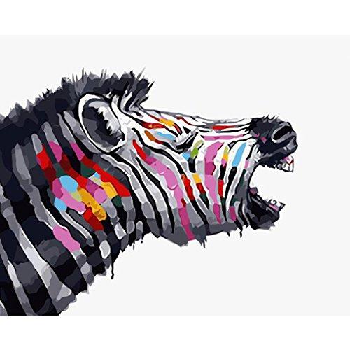 LovetheFamily 数字油絵 数字キット塗り絵 手塗り DIY絵 デジタル油絵 ペインテッドシマウマ 40x50cm ホーム オフィス装飾