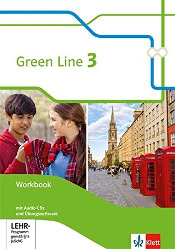 Green Line 3: Workbook mit 2 Audio-CDs und Übungssoftware Klasse 7 (Green Line. Bundesausgabe ab 2014)