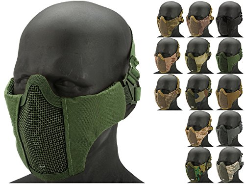 Evike   Matrix Low Profile Iron Face Padded Lower Half Face Mask  Color  Od     67135