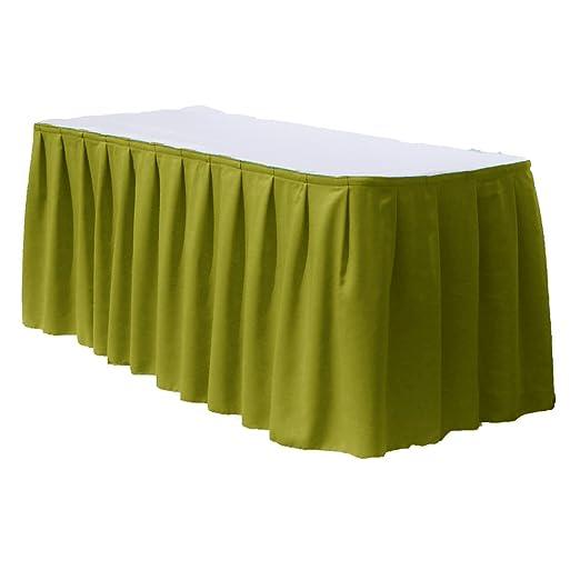 Faldones de mesa de poliéster para mesa rectangular de 4 pies por ...