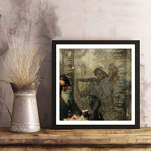 (i-zehibho-i Wall Art - Vietnam Veterans Memorial Fashion Decor Art Print - 10x10in with Frame)