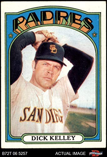 1972 Topps # 412 Dick Kelley San Diego Padres (Baseball Card) Dean's Cards 4 - VG/EX Padres