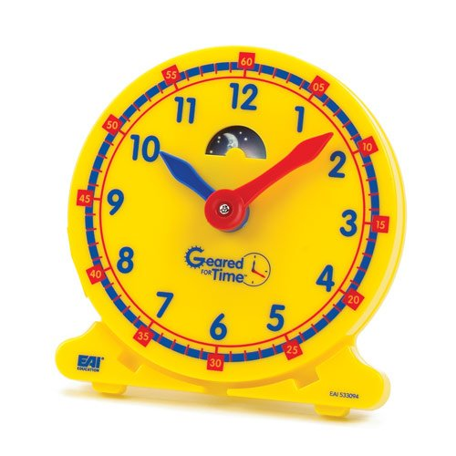 - EAI Education Geared for Time Student Clocks - Set of 6