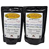 Southwest Heritage Mill Blue Corn Cornbread with Green Chile Mix Pack of 2 16 Ounce Bags