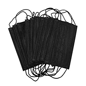 10pcs Black Disposable Anti Dust Face Mouth Mask Breathable 3 Layer Masks