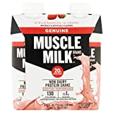 Muscle Milk Genuine Protein Shake, Strawberries 'N Crème, 20g Protein, 11 FL OZ, (Pack Of 48)