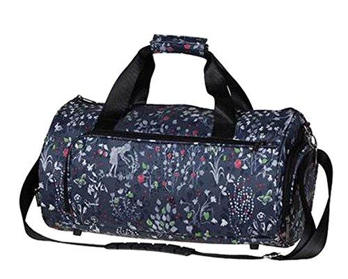 Mode Sport Duffel Bag Sporttasche Fitness Bag Reisetasche Blumen