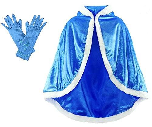 Frozen Elsa Cape - Enchantly Girls Dress Up Play Princess