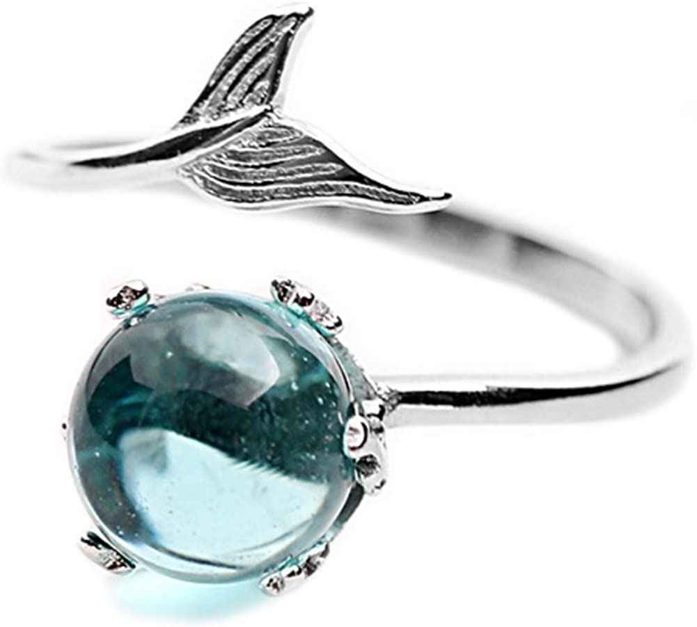 Helen de Lete Mermaid In Deep Ocean 925 Sterling Silver Open Ring