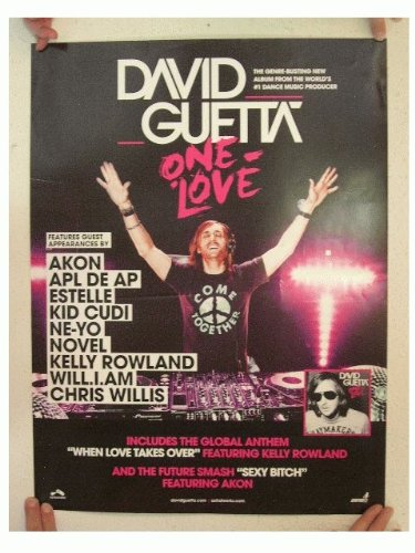 David Guetta Poster One Love