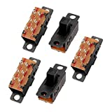 uxcell 5Pcs 3 Position 6P DPDT Micro Miniature PCB Slide Switch Latching Toggle Switch